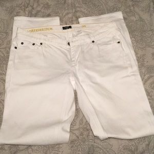 J.Crew Matchstick Jeans - Regular Fit 31 White